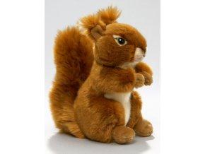 Plyšová veverka 17 cm - plyšové hračky