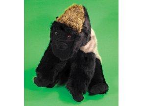 Plyšová gorila stříbrná 33cm - plyšové hračky