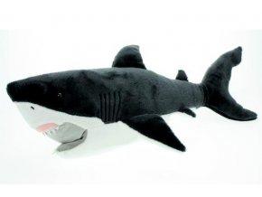 Plyšový žralok bílý 54cm - plyšové hračky
