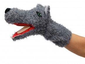 Maňásek vlk 33cm - maňásci