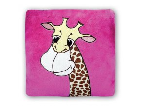 Plyšová žirafa polštář 30x30 cm - plyšové hračky