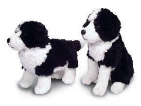 Plyšový pes Border kolie 19 cm - plyšové hračky