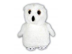 Plyšová sova sněžná 13 cm - plyšové hračky