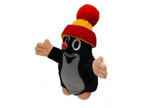 Plyšový Krteček červený kulich maňásek 28 cm - plyšové hračky