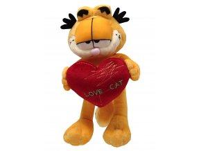 Plyšový Garfield 23cm, srdce - plyšové hračky