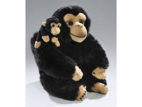 Plyšová opice s mládětem 31 cm - plyšové hračky