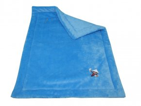 Deka 85x62cm Večerníček - modrá