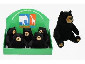 Plyšový medvídek černý 17cm - plyšové hračky