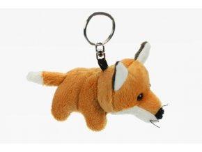 Plyšová liška klíčenka 8 cm - plyšové hračky