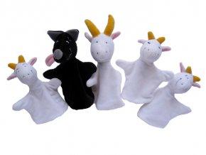 Maňásci O vlku a kůzlátkách 28 cm - plyšové hračky