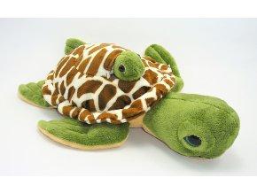 Plyšová želva s mládětem 35 cm - plyšové hračky