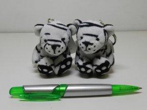 Plyšový tygr bílý klíčenka 7 cm - plyšové hračky