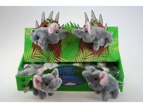 Plyšový slon klíčenka 14 cm - plyšové hračky