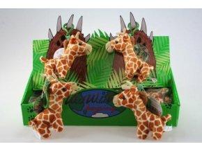 Plyšová žirafa klíčenka 12 cm - plyšové hračky