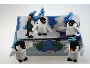 Plyšový tučňák klíčenka 10 cm - plyšové hračky