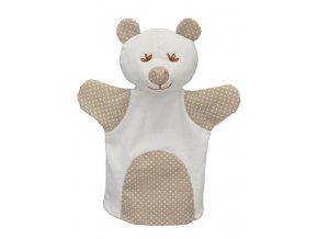 Maňásek medvěd 26cm MIMI, puntík - maňásci