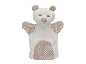 Maňásek Medvěd 26cm MIMI, srdíčka - maňásci