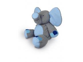 Plyšový slon Valda 90 cm, šedo-modrý - plyšové hračky