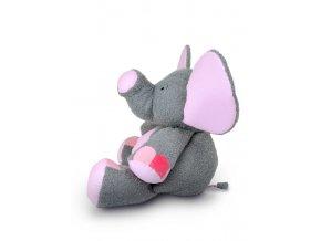 Plyšový slon Valda 90 cm, šedo-růžový - plyšové hračky