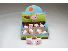 Plyšové prasátko pro štěstí 5 cm - plyšové hračky