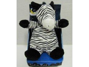 Plyšová zebra 20cm, chrápající - plyšové hračky