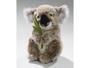 Plyšová koala s listem 16 cm - plyšové hračky