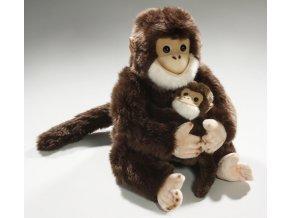 Plyšový šimpanz s mládětem 25 cm - plyšové hračky