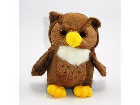 Plyšová sova 18cm - plyšové hračky