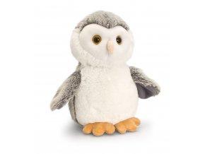 keel toys wild woodland animals 18cm white owl cuddly soft toy plush teddy 12718 p