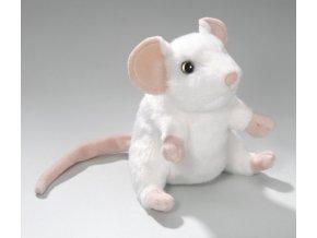 myš bílá sedící