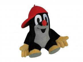 Plyšový Krteček 30cm, s červenou kšiltovkou - plyšové hračky