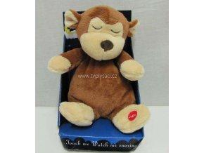 Plyšová opice chrápající 20cm - plyšové hračky