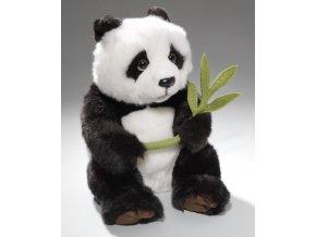 Plyšová panda s listem 28 cm - plyšové hračky