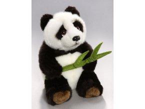 Plyšová panda s listem 18 cm - plyšové hračky