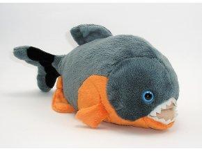 Plyšová ryba piraňa 30 cm - plyšové hračky