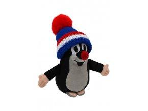Plyšový Krteček 15cm, modro-červeno-bílý kulich - plyšové hračky