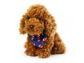 Plyšový pes se šátkem 23 cm - plyšové hračky