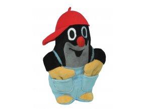 Plyšový Krteček 25cm, v kalhotkách s červenou kšiltovkou - plyšové hračky