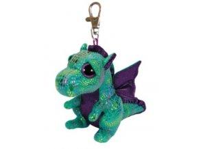 Plyšový drak Beanie Boos CINDER klíčenka 8,5 cm