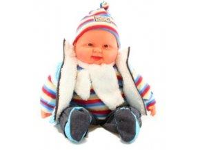 Miminko velké - kluk - světle modrá vesta 55 cm