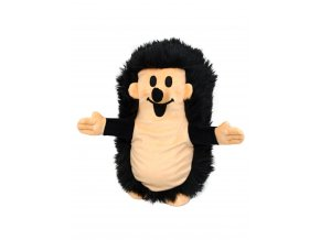 Plyšový Ježek 27cm, černý maňásek - plyšové hračky