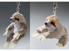 Plyšový lenochod přívěšek 14cm - plyšové hračky