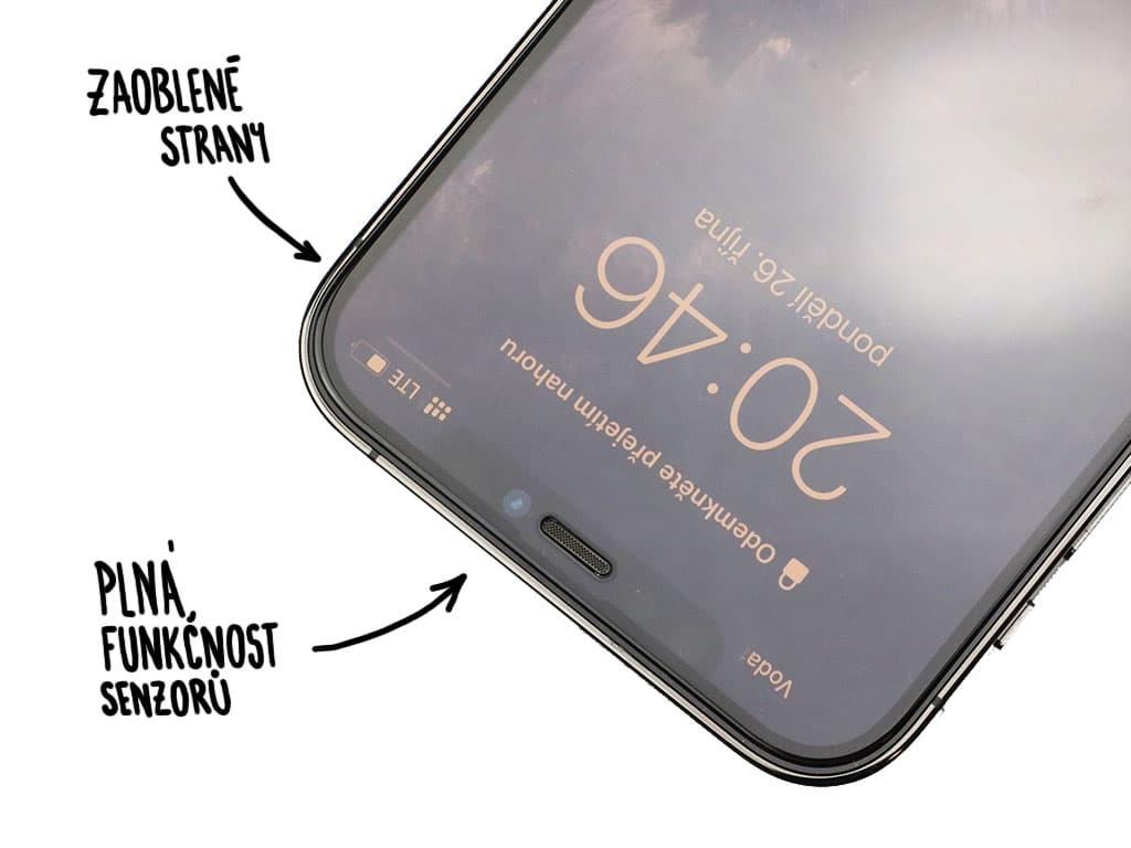 SKLADEM: Tvrzené sklo na iPhone 12 (Pro) / Max / Mini
