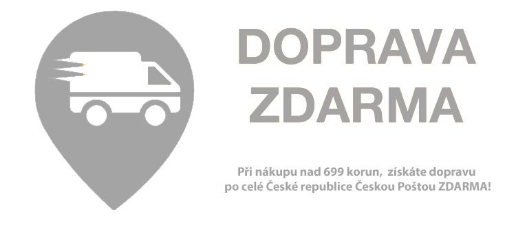 Novinka! Při nákupu nad 699 korun máte dopravu Českou poštou po celé republice ZDARMA!