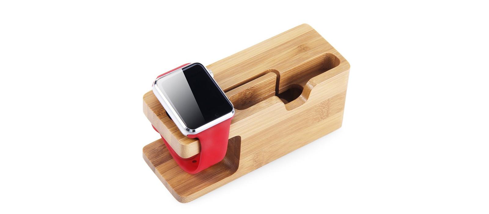 Tip na produkt v akci - Držák pro iPhone a Apple Watch - MyWood Bamboo s dopravou zdarma!