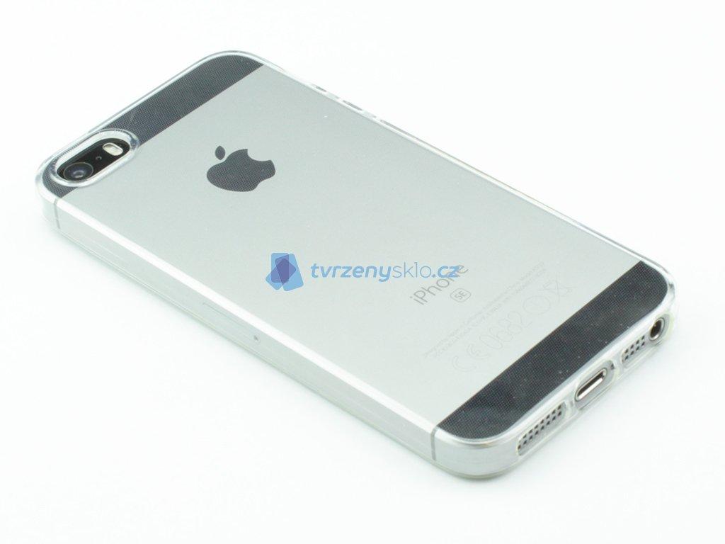 Gumový obal pro iPhone 5,5S,SE Průhledný