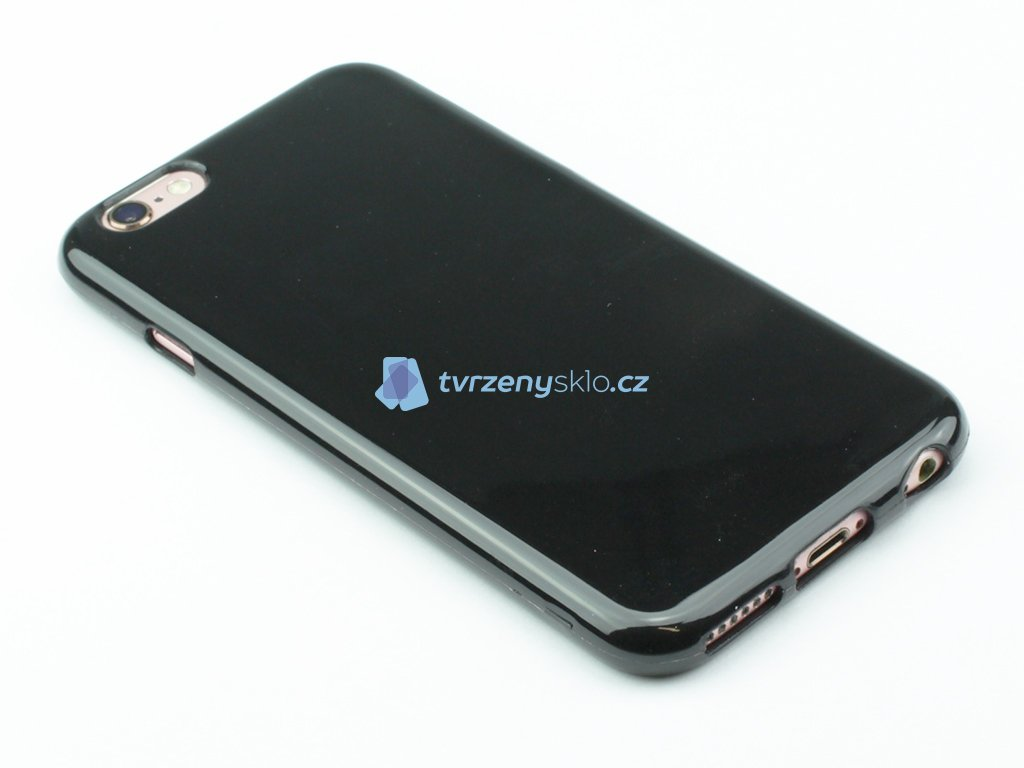 Pevný Gumový kryt pro iPhone 6, iPhone 6s Černý