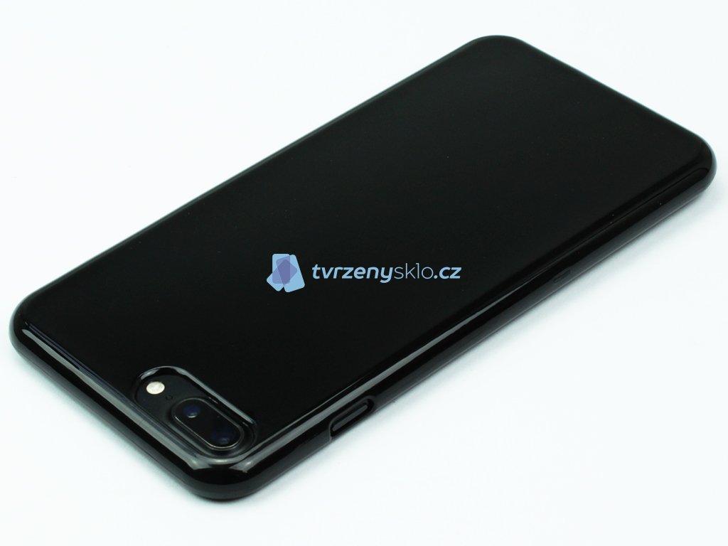 Pevný Gumový kryt pro iPhone 7, iPhone 8 Plus Černý