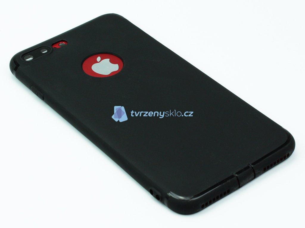 Gumový, Matný kryt na iPhone 7 Plus, 8 Plus Černý