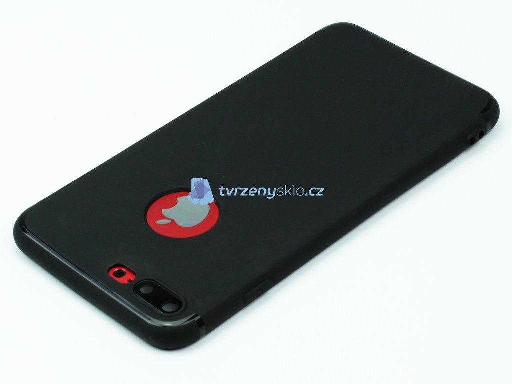 Gumový, Matný kryt na iPhone 7 Plus, 8 Plus Černé